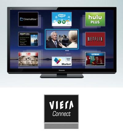 Support de VIERA Connect pour les TV Panasonic 2011