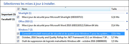 correctif cumulatif 2 pour windows xp