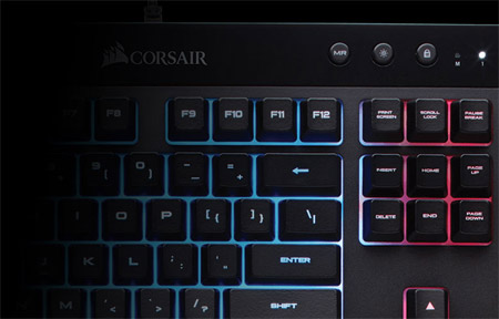 """Résultat de recherche d'images pour """"corsair k55 clavier gaming"""""""